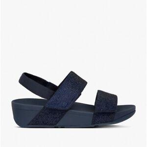 FitFlop MINA CRYSTAL Ladies Slingback Summer Back Strap Sandals Midnight Navy