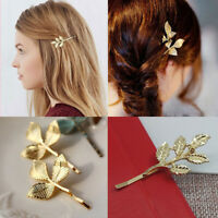 Tool Metal Bobby Pin Women Hair Clip Bride Hairpins Leaf Shape Barrettes