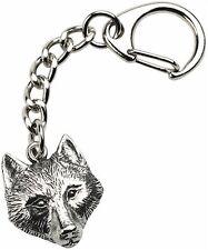 Wolf Keyring  -  Beautiful Quality Pewter