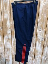 Adidas Mens Navy With Orange Detail Lined Sweat Pants Sz Medium