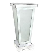 Mirrored Glass Lamp Table / Pillar W30cm x D30cm x H80cm VICTORIA