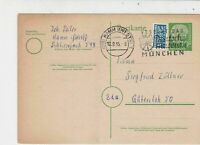 Germany 1955 Hamm-West Cancel Obligatory Tax Aid for Berlin Stamps Card Ref26043