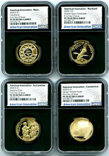2020 S $1 NGC PF70 PROOF AMERICAN INNOVATION FIRST DAY OF ISSUE 4-COIN SET