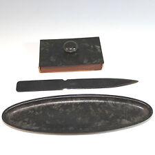Vintage Bradley & Hubbard Bronze Desk Set, three pieces