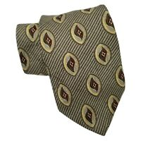 Bill Blass Black Label Silk Tie Grey Green Gold Red Atomic Style Necktie