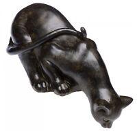 Nostalgia Scultura gatto di casa giardino in stile antico figura scultura gatto