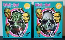 BRAND NEW Devil & God Halloween Masks w Bag + Small T Shirt Indie Rock Emo Punk