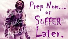 Prepper Fridge Magnet Prep Now Supply Aprox 3.5 X 2.5 In. Laminate Protected.