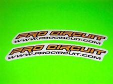 KX KXF CR CRF YZ YZF RM RMZ SX 85 125 250 YELLOW PRO CIRCUIT FENDER STICKERS #2