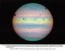 NASA Photographic Card Print of JUPITER with a rare Triple eclipse