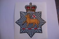 """THE QUEENS ROYAL SURREY   STICKERS X 2 BRITISH ARMED FORCES MILITARY   5"""" approx"""