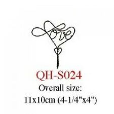 Wire Single Hook Set (Hearts + Love)  4X   #S024