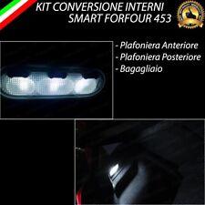 KIT FULL LED INTERNI SMART FORFOUR 453 ANT + POST + BAGAGLIAIO 6000K CANBUS