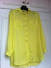Diesel bright yellow long sleeved tunic shirt - size S - new with tags