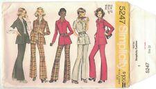 Vintage 70s Pants Jacket Bell Bottoms Simplicity 5247 Pattern Sewing Retro Uncut