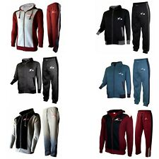 X-2 Men's Tracksuit Set Fleece Hoodie Top Bottom Joggers Gym Running Jogging