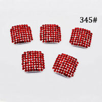 3D Fake Nails Rhinestone Crystal Full Cover False Toe Tips Nail Art Decoration