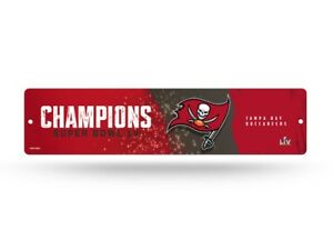 Tampa Bay Buccaneers 2020-2021 Super Bowl LV Champions Plastic Street Sign