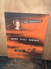 1948 Ward Products Corporation -Catalog- Original Copy! Radio Aerials