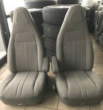 1997 2019 CHEVY GMC EXPRESS SAVANNA VAN BUCKET SEATS GREY CLOTH DRIVER PASSENGER