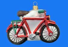 LRG MOUNTAIN BIKE BICYCLE EUROPEAN BLOWN GLASS CHRISTMAS TREE ORNAMENT GIFT
