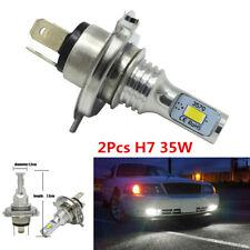 2X H7 LED Car Headlight High Low Beam Bulb Kit 6000K White 35W 4000LM Fog Light