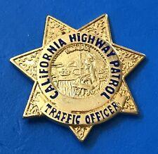 California Highway Patrol Traffic Officer Mini Badge Pin Back