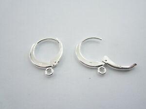 1 paio di monachelle tonde con chiusura in argento 925  anellino finale 3,5 mm
