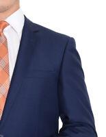 Mens 42R Raphael Slim Fit Solid Blue Two Button Blazer Suit Jacket