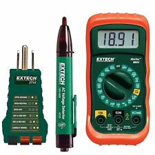 Electrical Test Kit With Receptacle Tester & Non-Contact Voltage Detector Safety