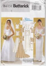 Wedding Gown Machine Embroidery Top Skirt Butterick Sew Pattern 5184 Uncut 18-22