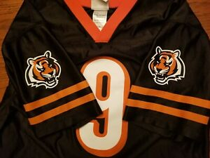 Exc! Bengals C Palmer Youth Size XL 18-20 NFL Football Jersey tiger logos black