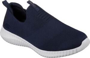 NEW Mens SKECHERS Elite Flex Wasick Navy MESH Slip On Sneaker Shoes AUTHENTIC