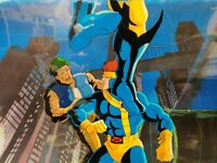 CYCLOPS WOLVERINE X-MEN ANIMATION CEL & Hand Painted Background with COA