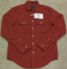 Abercrombie & Fitch Slim Fit Chamois Flannel Button Front Shirt Red Men S Small