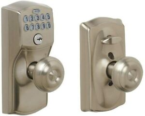 Schlage FE595 CAM 619 GEO Camelot Keypad Entry with Flex-Lock and Georgian Style