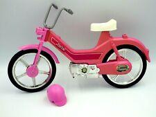 Véhicule Mattel Barbie Doll Motor Bike 1983 Vintage Toy Pink Bicycle 31 x 19 cm