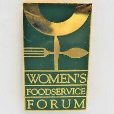 Vintage Womens Foodservice Forum Convention Collectable Pin Restaurant Souvenir