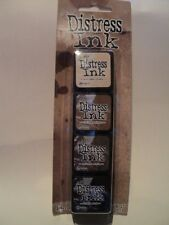 TIM Holtz Distress Ink MINI PACK KIT # 3 tdpk40330 NUOVO con confezione 4, Mini ink PADS * LOOK *