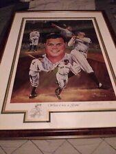 New York Yankees Babe Ruth Autographed Large Wood Framed Angelo Marino COA 27/50