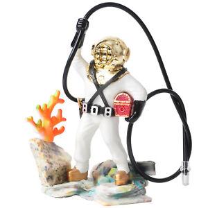 Aquarium Ornament Diver Treasure Chest Fish Tank Realistic Action Figure Gift