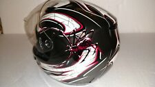 Motorcycle Helmet New G-Max 48 (Lg.) Bite Silv. Blk. Red. DOT