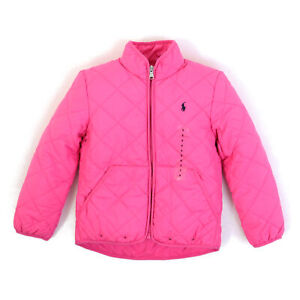 Polo Ralph Lauren Little Girls Quilted Jacket Coat - Pink - Size 5