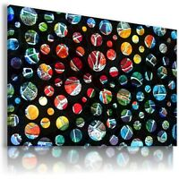 ABSTRACT DOTS COLORFUL Canvas Wall Art Picture Large SIZES AB585