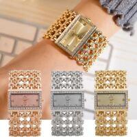 Superb Women Modern Quartz Stainless Steel Band Marble Strap Analog Wrist Watch