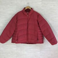 L.L. Bean Women's 3X Coat Cranberry / Red Reversible Goose Down Puffer Jacket
