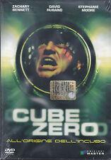 Dvd **CUBE ZERO** nuovo 2004