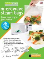toastabags Quickasteam Large Microwave Steam Cooking Bags - 25 Bags