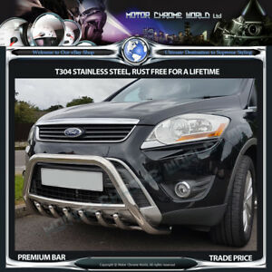 FITS FORD KUGA BULL BAR CHROME AXLE NUDGE A-BAR 60mm 2013-2016 STAINLESS STEEL
