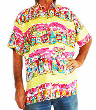 "LOUD HAWAIIAN men's shirt with tropical beer bottles XXXXL 60"", new, stag night"